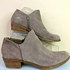 Lucky Brand Brixlee Light Brown Suede Ankle Boots